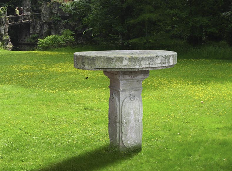 Table De Jardin Ancienne En Pierre Calcaire D Cor Grav Xix Si Cle Mobilier